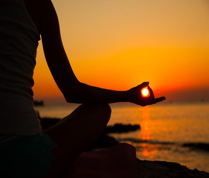 Meditazione sole alba